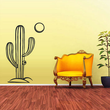 rvz1795 Wall Decal Vinyl Sticker Decals Skyline Cactus Mexico Desert Sun