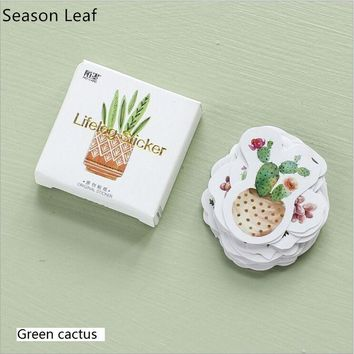 45Pcs/Pack Lush Green Plants Cactus Decoration Lable Stickers DIY Diary Planner Album Scrapbooking Stickers