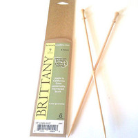 "Brittany Wood Single Point Knitting Needles 10"" Single Point Size 9 or 5.5 mm"