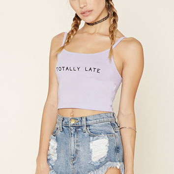 Late Graphic Cropped Cami