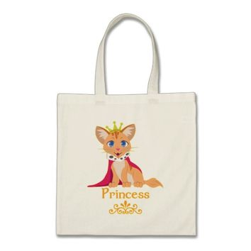 Princess Kitten Tote Bag