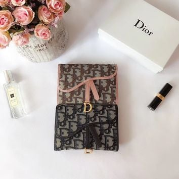 HCXX 1771 Dior Oblique Cowhide flip-over Chinese Wallet