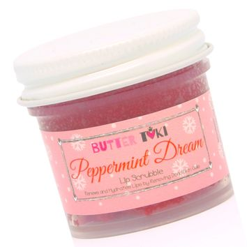 PEPPERMINT DREAM Brown Sugar Lip Scrubbie for Baby Soft Lips 1oz Holiday Collection 2017