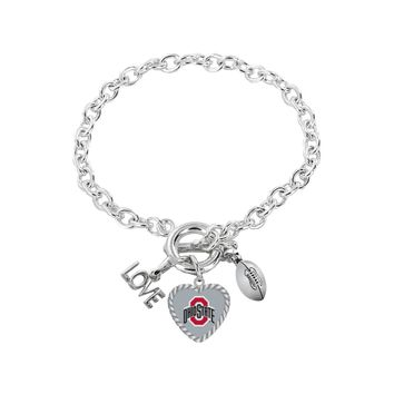 Ohio State Buckeyes Bracelet Charmed Sport Love Football