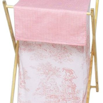 Sweet Jojo Designs Baby and Kids Clothes Laundry Hamper - Pink French Toile