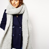 ASOS Oversized Fluffy Scarf at asos.com