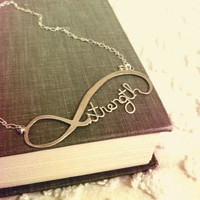 Infinity Necklace - Strength - Sterling Silver