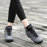 Fashion Women Casual Breathable Sports Shoes Basketball Shoes Ladies Flat Splice High Cut Sneakers