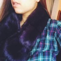 purple💜faux fur scarf