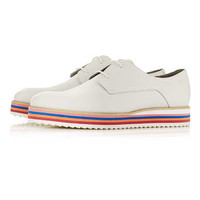 Anthony Miles White Leather Derby Shoes - New In