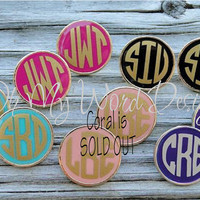 Enamel Monogram Stud Earrings by OhMyWordDesigns on Etsy