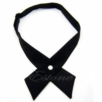 Men's Bow Ties Cross Adjustable Solid Color Polyester