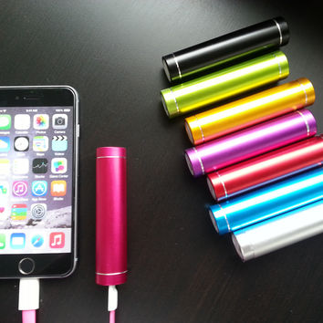 2000mAh Slim Aluminum Mobile Power Bank