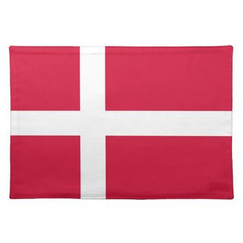 Danish Flag on MoJo Placemat