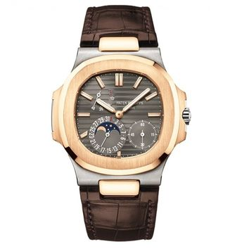 Patek Philippe Nautilus 40mm White and Rose Gold Watch 5712GR-001