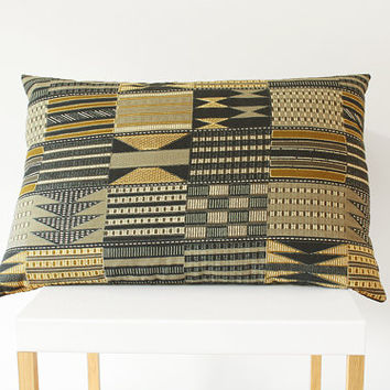 Wax Print Lumbar Pillows - 1950s Vlisco Batik