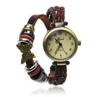 Wrap Watch With Butterfly Pendant
