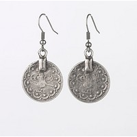 Ancient Ottoman Coins Dangle Earrings