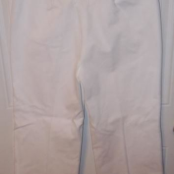 ON SALE Summer White Sailor Pants Ralph Lauren Vintage Pants Cotton Button Front Laces