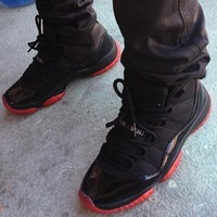 Air Jordan 11 Retro ¡°Blacked Out Bred¡± Custom by Noldo AJ11