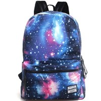 CrazyPomelo Galaxy Collection Printing Canvas Backpack (Lightning)