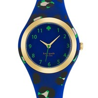 Women's kate spade new york 'rumsey' plastic strap watch, 30mm - Blue/ Multi Leopard