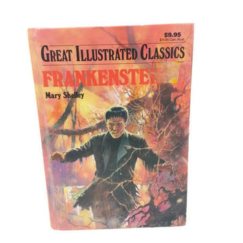 Vintage Frankenstein Hardback Book, 1993 Great Illustrated Classics by Mary Shelly