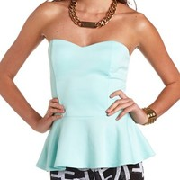 Bow-Back Peplum Tube Top: Charlotte Russe
