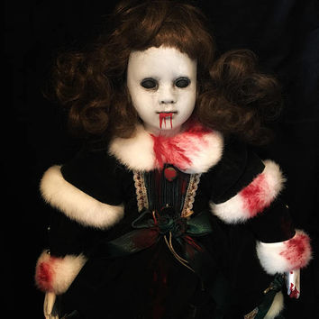 Art Doll - OOAK doll - Halloween doll-horror doll - creepy doll - Gothic doll - porcelain doll - custom doll - vampire doll - vampire