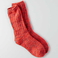 AEO Textured Crew Socks, Red