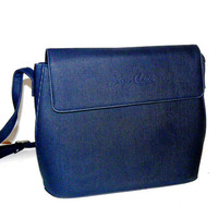 Beautiful Italian vintage dark blue handbag., Sergio Castelli, Italy