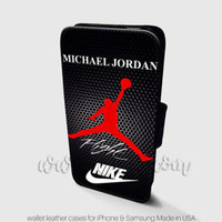 Michael Jordan Wallet iPhone Cases Signature Nike Samsung Wallet Leather Cases