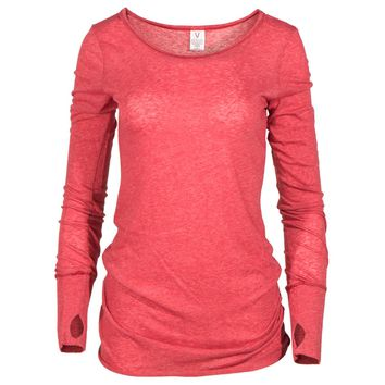 Women's Athlesiure Every day Long Sleeve Top With Thumbholes