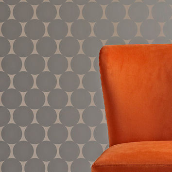 Wall Stencil Polka Dot Circles Geometric Pattern Wall Room Decor Made by OMG Stencils Home Improvements Color Paintings 0063