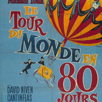 Around the World in 80 Days (French) 11x17 Movie Poster (1956)