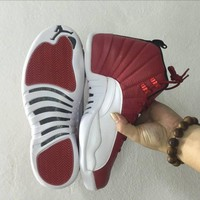 """Ready Stock"" aj12 Air Jordan 12 ""Gym Red"" Men Sneaker"