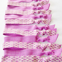 Radiant Orchid, Pantone Color of the Year 2014, Set of 5, Lucky Girl Hair Ties