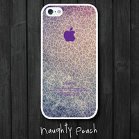 iPhone 5 Case, iPhone 5S Case - PURPLE LEOPARD /  iPhone 5S Case, iPhone 5S Cover, Cover for iPhone 5S, Case for iPhone 5S