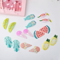 2pcs Cute Girls Baby Kids Children Hair Accessories Slides Snap Hair Clips Gift YYXUAN A9