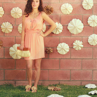 Meadow Field Dress in Apricot [3003] - $15.94 : Vintage Inspired Clothing & Affordable Fall Frocks, deloom | Modern. Vintage. Crafted.