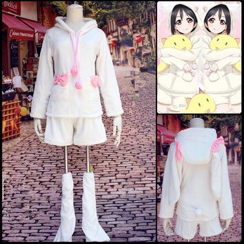 Lovelive School Idol Project Nico Yazawa Bunny Suit Cosplay Costume Love Live Full Set Cute Rabbit Pajamas Leisure Wear
