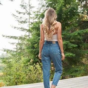 90's LEE jeans, 29 30 Waist Vintage high waisted jeans, Distressed Skinny Jeans, 90s Grunge Boyfriend Jeans, Boho Mom Jeans