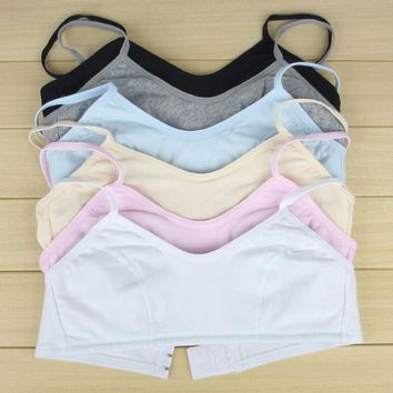 2015 Adjust Bra Small Training Bra Cotton Underwear Sleeping Vest Bra For Girls Kids Bra SN0004