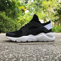 Best Online Sale Nike Air Huarache 4 Rainbow Ultra Breathe Men Women Hurache Black/White Running Sport Casual Shoes Sneakers - 118