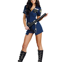 MOONIGHT 3 Pcs New Ladies Police Fancy Halloween Costume Sexy Outfit Woman Cosplay Sexy Police Costumes for Women