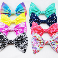 Summer Brights Set of FOUR colorful hair bows- Choose Four from the set