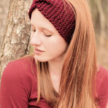 Knitted Headband Ear warmer Chunky Knit WideTurban Style Hairband Other Colours