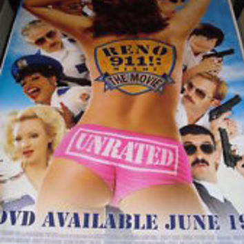 Reno 911 Miami the Movie Unrated Movie Poster 27x40  Used Brandon Molale, Jill-Michele Melean, Wendi McLendon-Covey, Jack Plotnick, Mary Birdsong, Jason Williams, Kathryn Fiore, David Koechner, Paul Rudd, Irina Voronina, Patton Oswalt