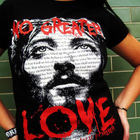 JCLU Forever Christian t-shirts — 026-NO GREATER LOVE-Christian T-shirt