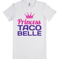 Princess Taco Belle-Female White T-Shirt